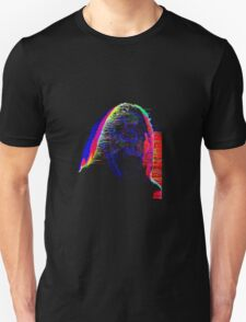 Neon Face Glitch Art Unisex T-Shirt