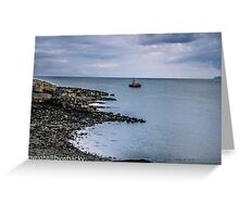 Thelifeboat at sea Greeting Card