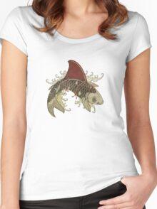 koi shark fin 03 Women's Fitted Scoop T-Shirt
