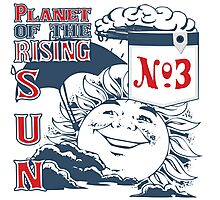 Planet of the Rising Sun Photographic Print