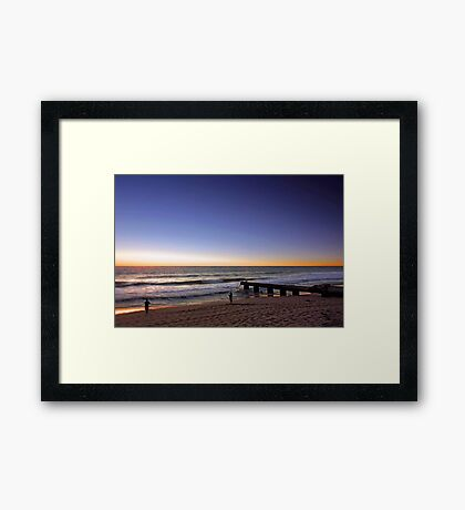 Fishing At Floreat Drain  Framed Print