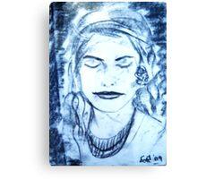 Modesty Canvas Print