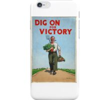 Classic Vintage Posters Food Production Dig for Victory  iPhone Case/Skin
