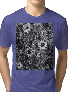 Dahlias and Daisies standing together 2 Tri-blend T-Shirt