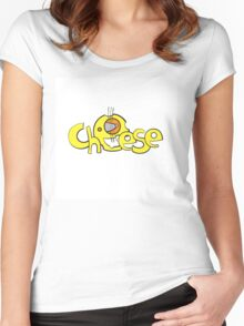 Cheese logo. Women's Fitted Scoop T-Shirt