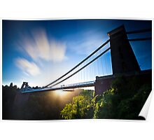 Clifton Suspension Bridge - Bristol - England Poster