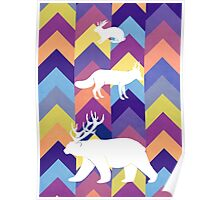 Antlers & Chevrons - Cool Poster