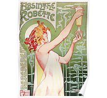 Vintage Privat Livemont Absinthe Robette 1896 Poster