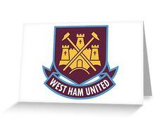 west ham united Greeting Card