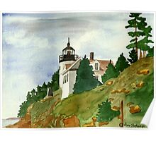 Bass Harbor Head Light   Mount Dessert Island Maine Poster