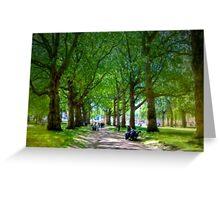 The Park - Buckingham Palace, London, United Kingdom Greeting Card