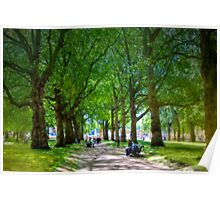 The Park - Buckingham Palace, London, United Kingdom Poster