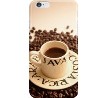 Barista Cup of Coffee and Costa Rica Arabica Beans iPhone Case/Skin