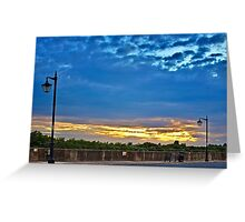 Watch the Sunset by the River Greeting Card
