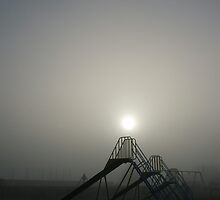 Early Morning Mist, Wicksteed Park, Kettering by Jessica Duley