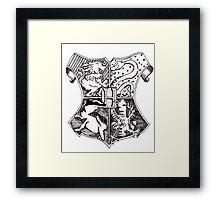 Hand Drawn Hogwarts Crest Framed Print