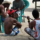 hanging out on a Bali beach. by geof