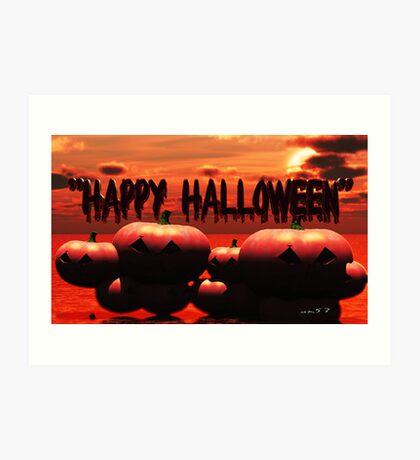 Happy Halloween.  (halloween card challenge) Art Print