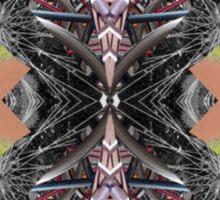 bike kaleidoscope in the open Sticker