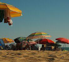 Parasols on La Playa, Roche, Spain by sofiesofie