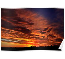 Silo Silhouette Sunset | Hay NSW Poster