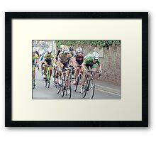 Tour of Britain Cycle Race Framed Print