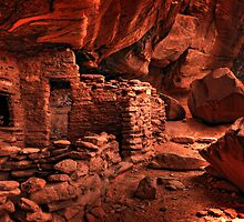 Anasazi Cliff Dwellings by Kenny Bowcutt