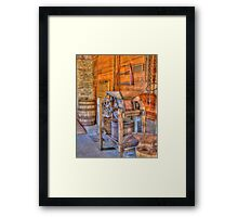 Old Cider Press Framed Print