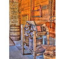 Old Cider Press Photographic Print