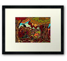 WOODLAND FRIENDS - THE FOX Framed Print