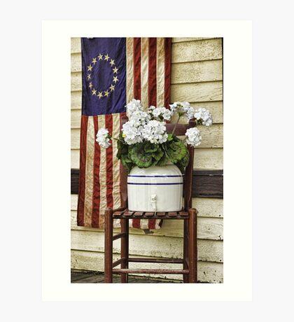 FLAG & FLOWER Art Print
