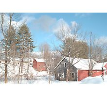 Snowy Winter Day Photographic Print