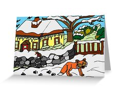 WOODLAND FRIENDS - WINTER Greeting Card