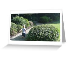 ~ Round and Round the Garden ~ Greeting Card