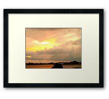 Sky shear Framed Print