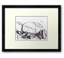 an alien world Framed Print