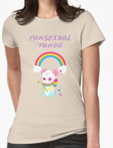 Cute Pansexual PANda shirts and hoodies - pan pride Womens Fitted T-Shirt