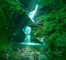 St.Nectan's Glen - Mystic Waters by Angie Latham