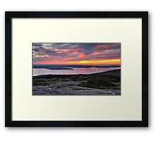 Sunrise, Cadillac Mountain Framed Print