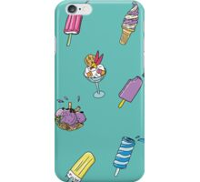 background with ice-cream  iPhone Case/Skin