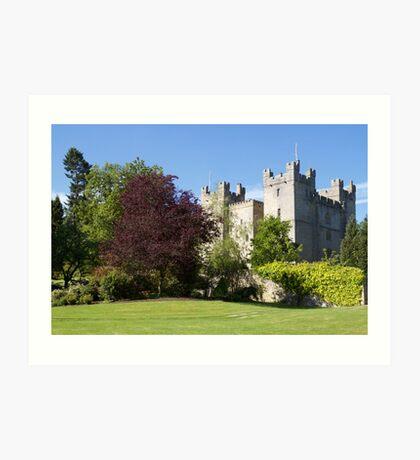 Langley Castle, Hexham, Northumberland Art Print