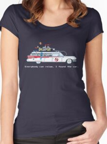 Ecto 1 - Ghostbusters Pixel Art Women's Fitted Scoop T-Shirt