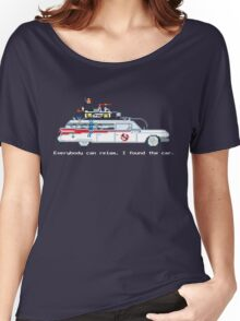 Ecto 1 - Ghostbusters Pixel Art Women's Relaxed Fit T-Shirt