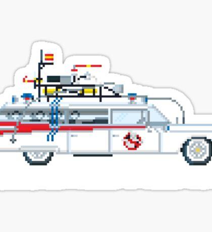 Ecto 1 - Ghostbusters Pixel Art Sticker