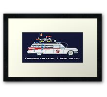 Ecto 1 - Ghostbusters Pixel Art Framed Print