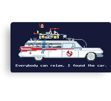 Ecto 1 - Ghostbusters Pixel Art Canvas Print