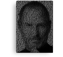 Steve Jobs–Don't Settle v2 Canvas Print