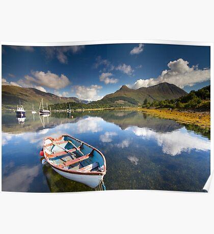 Scotland: Summer on Loch Leven Poster