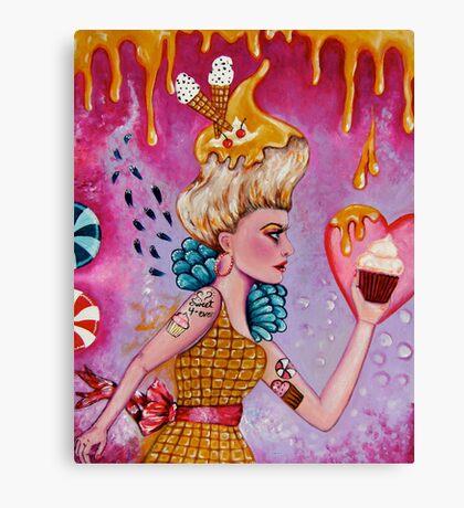 Take the Cupcake and Run Canvas Print