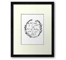Peter Pan - What If You Fly? Framed Print